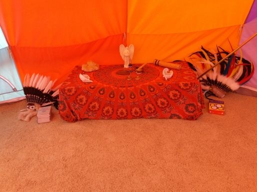 Altar (so far) just a sample of it from Karlyn
