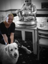The Buddha ends up in bloody Blackpool. Loved this hound. X