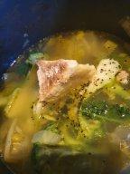 brocolli and stilton soup before blending