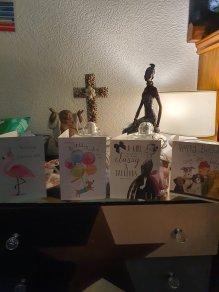 Cards on Altar